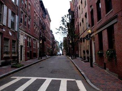 ボストンのレンガ造りの建物風景