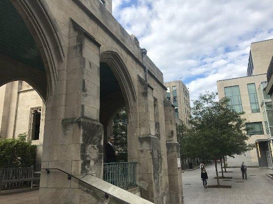 ボストン大学のキャンパス内