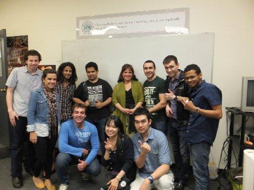 New England School of Englishのクラスメイト達と一緒に写真を撮りました!
