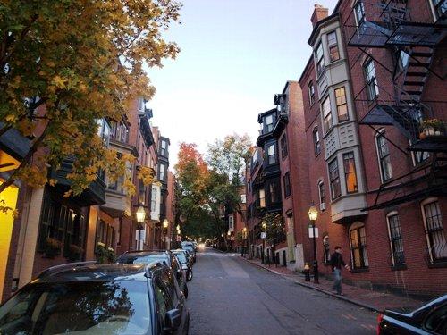 ボストンのアパートの外観