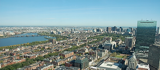 ボストンの町を空から一望!