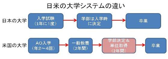日米の大学&コミュニティカレッジ(コミカレ)の違い