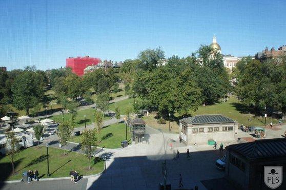 FLSボストン校の校舎からの風景