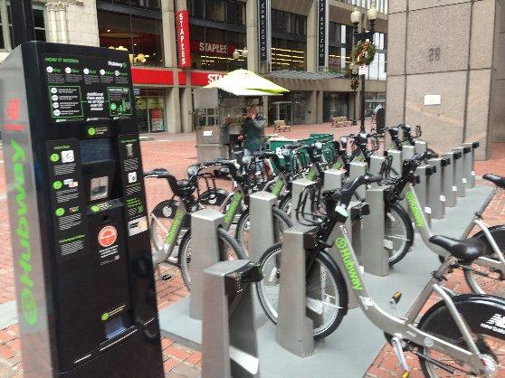 レンタル自転車の写真