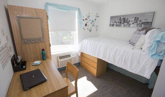 cats academyボストンの学生寮の部屋の風景