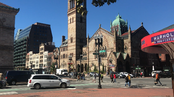 ボストン観光名所、コープリースクエアの雰囲気