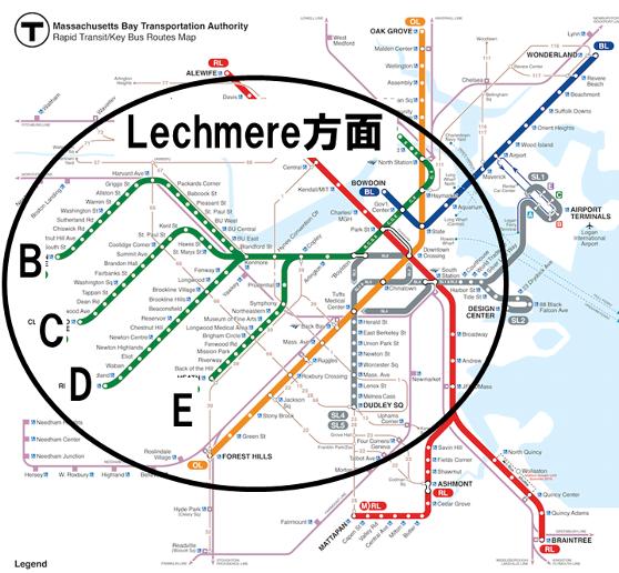 グリーンラインの路線図