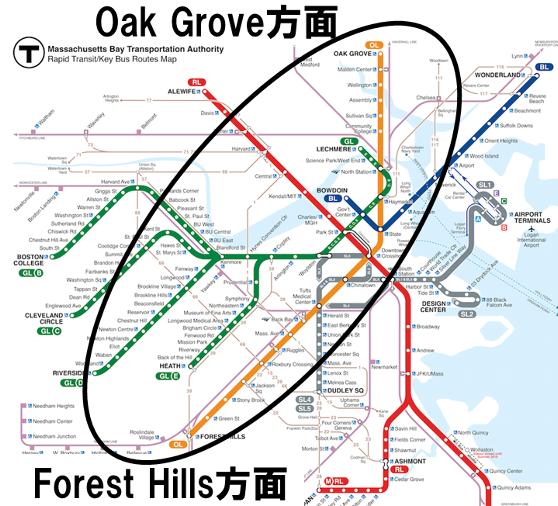 オレンジライン路面図
