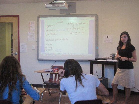 留学先の語学学校のクラス風景