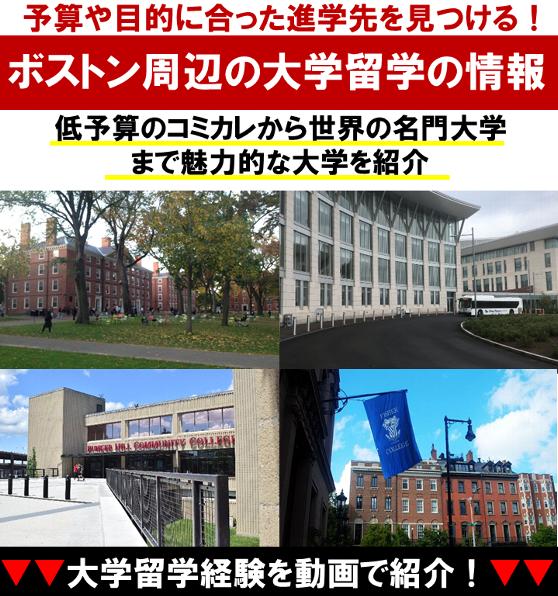 ボストン大学留学の情報を紹介