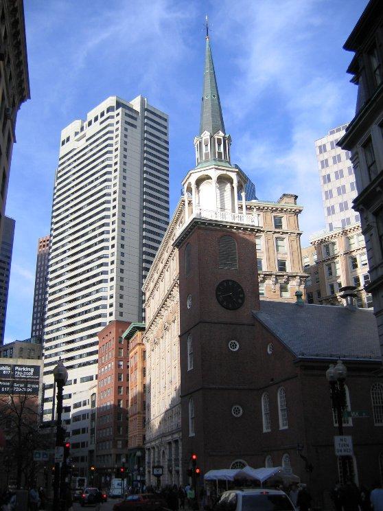 ボストンの歴史的な建造物のパークストリート教会