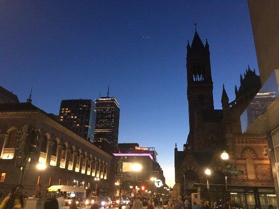 ボストンの夕方の風景
