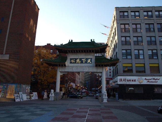 アメリカボストンの中華街の風景