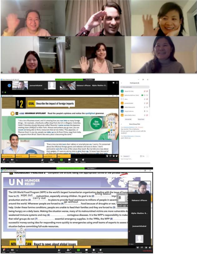 オンラインコースのクラス風景