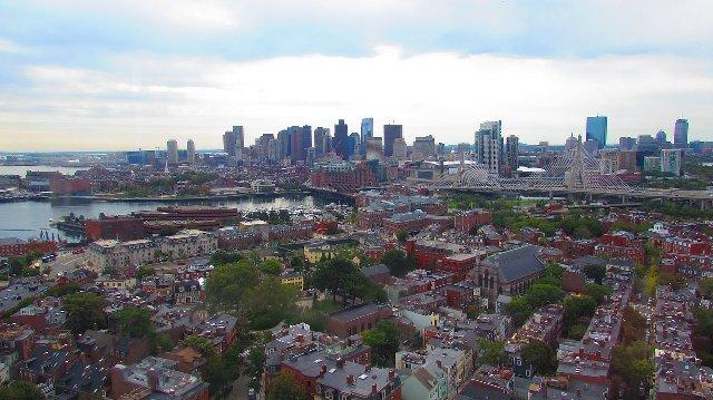 アメリカ留学ならボストンの理由1:空からみた町の風景