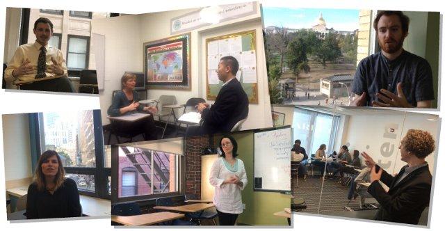 ボストンの語学学校のスタッフの写真